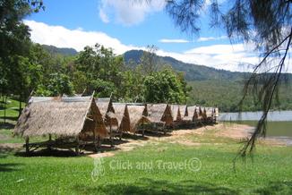 Fietstoer van een halve dag ten noorden van Chiang Mai Thailand foto