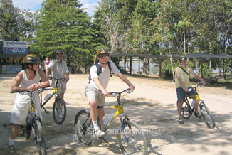 Half day bicycle tour north of Chiang Mai Thailand image