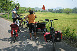 Bicycle tours with children around Chiang Mai Thailand image