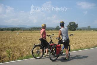 2-daagse fietstoer ten noorden van Chiang Mai Thailand foto